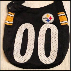 Pittsburgh Steelers Nylon Mesh Hobo Bag